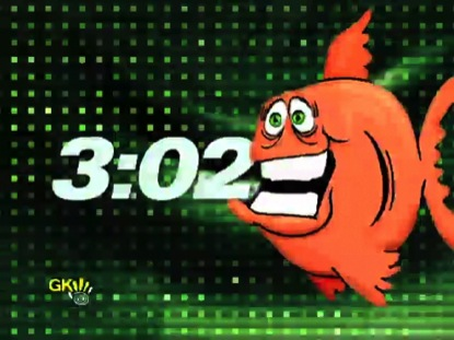 FUNNY GRAPHIC ORANGE FISH COUNTDOWN