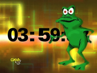 GRUMPY GRAPHIC FROG COUNTDOWN