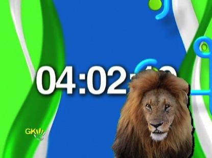 PHOTO REAL LION WITH SWIRLY SWIRLS COUNTDOWN