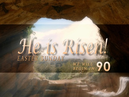 HE IS RISEN COUNTDOWN