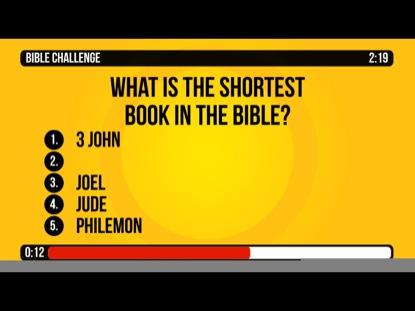 BIBLE CHALLENGE COUNTDOWN 1 - GENERAL BIBLE