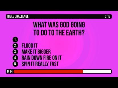 BIBLE CHALLENGE COUNTDOWN 5 - NOAH