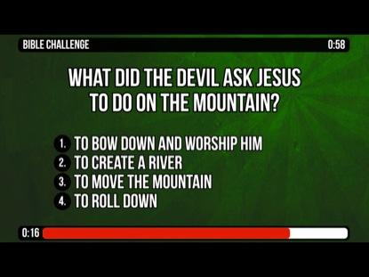 JESUS IN THE WILDERNESS - MATTHEW 4:1-11