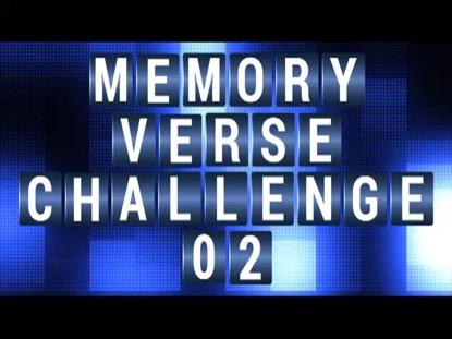 MEMORY VERSE CHALLENGE 2 COUNTDOWN