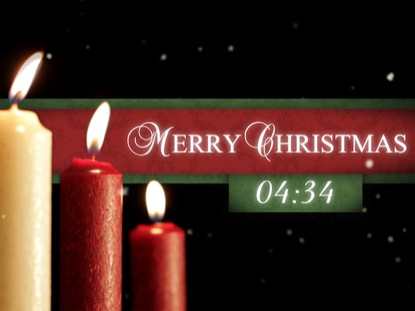 MERRY CHRISTMAS CANDLES COUNTDOWN