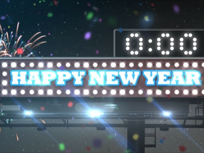 NEW YEARS SIGN COUNTDOWN