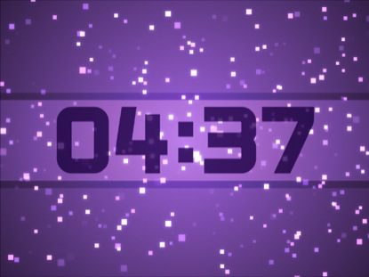 PURPLE PARTICLE SQUARES COUNTDOWN