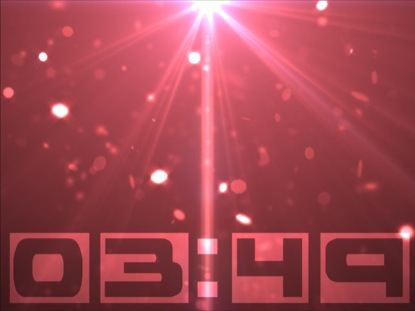RED PARTICLE SWIRL COUNTDOWN