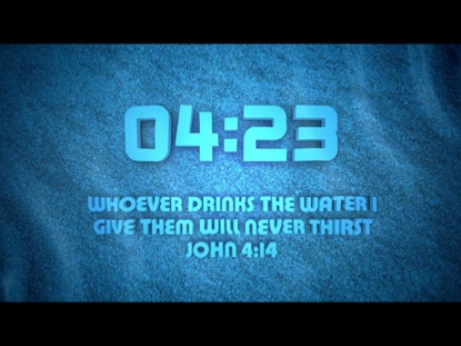 WATER SCRIPTURE COUNTDOWN