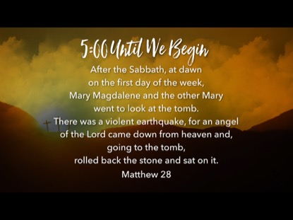 EASTER HILLS SCRIPTURE COUNTDOWN