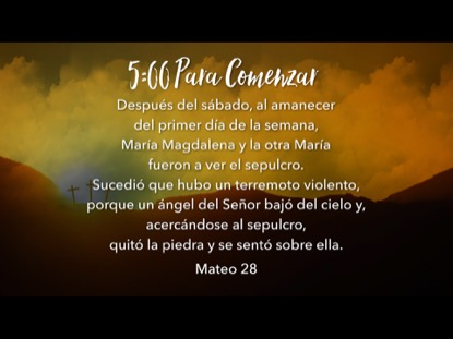 EASTER HILLS SCRIPTURE COUNTDOWN - SPANISH