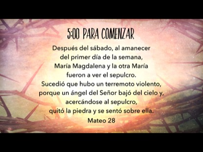 EASTER THORNS SCRIPTURE COUNTDOWN - SPANISH