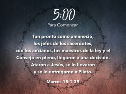 GOOD FRIDAY THORNS SCRIPTURE COUNTDOWN - SPANISH