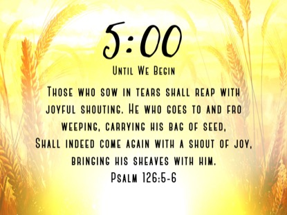 HARVEST SOWING 1 SCRIPTURE COUNTDOWN