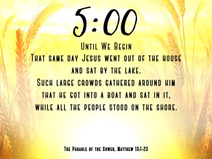 HARVEST SOWING 2 SCRIPTURE COUNTDOWN
