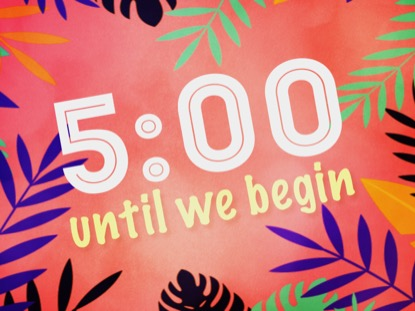 PALM SUNDAY PARTY COUNTDOWN