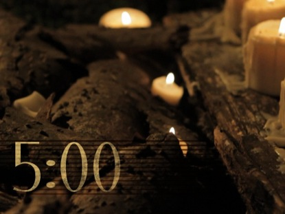 RUSTIC CANDLE COUNTDOWN