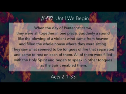 Spirit Of Pentecost Scripture Countdown | Playback Media | Preaching Today Media