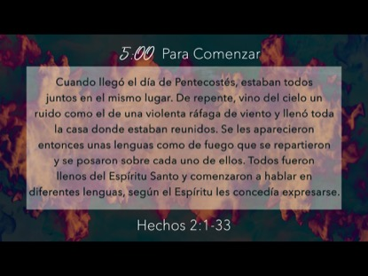 Spirit Of Pentecost Scripture Countdown - Spanish | Playback Media | Preaching Today Media