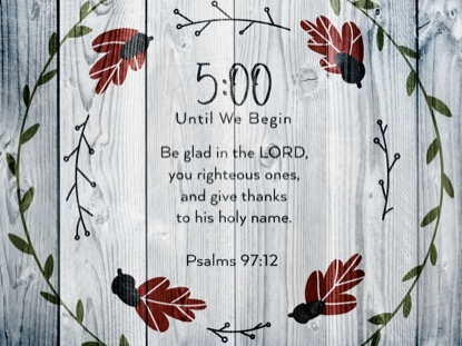 THANKSGIVING ART SCRIPTURE COUNTDOWN