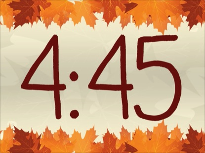 THANKSGIVING LEAVES CLOCK