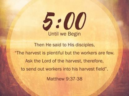 THE GREAT COMMISSION SCRIPTURE COUNTDOWN