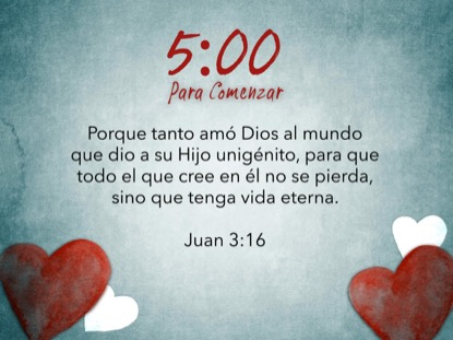 VALENTINES HEARTS SCRIPTURE COUNTDOWN - SPANISH