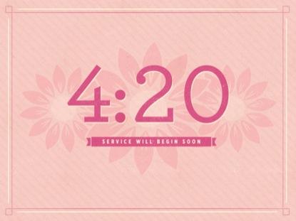 PINK FLOWERS COUNTDOWN
