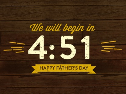VINTAGE FATHER'S DAY COUNTDOWN
