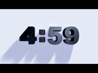 HEAVENLY CLOCK COUNTDOWN BLACK