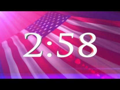 (PATRIOTIC) OLD GLORY WAVING FLAG COUNTDOWN