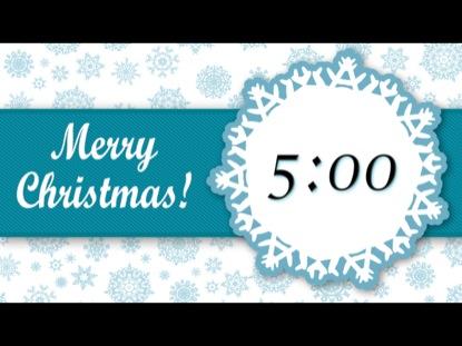 CHRISTMAS SNOWFLAKE COUNTDOWN 1