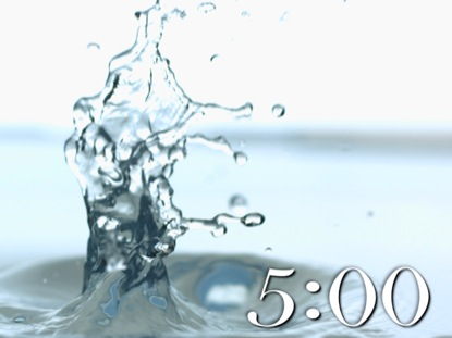 SERENE SLOW-MOTION WATER COUNTDOWN