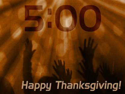 THANKSGIVING WORSHIP COUNTDOWN 2