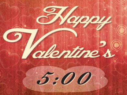 VALENTINE'S DAY COUNTDOWN 5