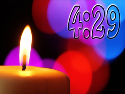 CANDLE AND COLORFUL LIGHTS COUNTDOWN