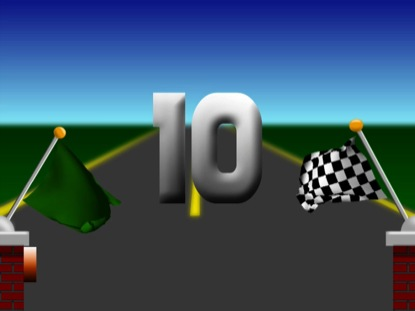 RACE FLAGS 10 SECOND COUNTDOWN