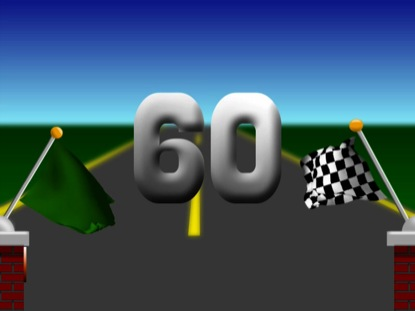 RACE FLAGS 60 SECOND COUNTDOWN