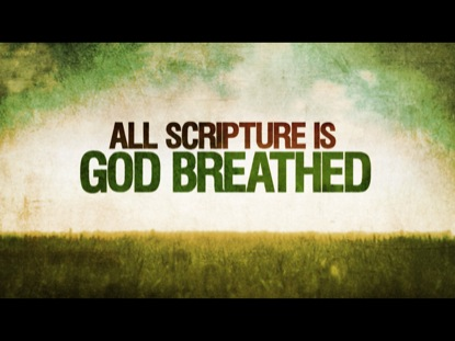 ALL SCRIPTURE IS