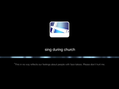 WHEN YOU DON'T... SING DURING CHURCH
