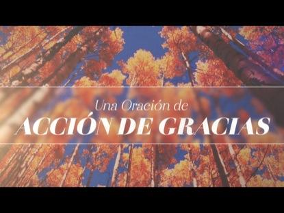 UNA ORACIÓN DE ACCIÓN DE GRACIAS