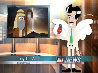 CHRISTMAS TONY THE ANGEL INTERVIEWS SHEPHERD