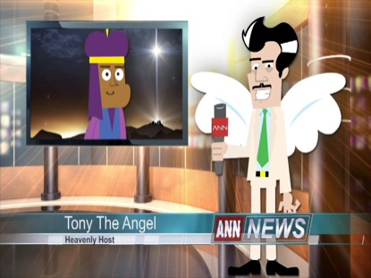 CHRISTMAS TONY THE ANGEL INTERVIEWS WISE MAN