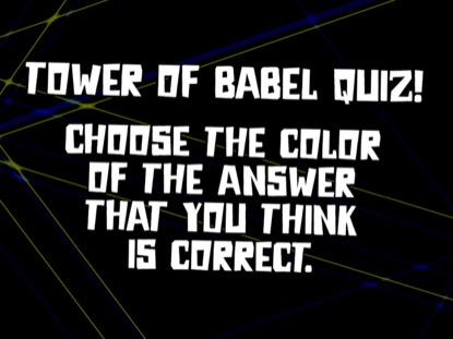 BIBLE QUIZ: TOWER OF BABEL