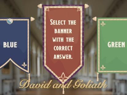BIBLE QUIZ DAVID AND GOLIATH