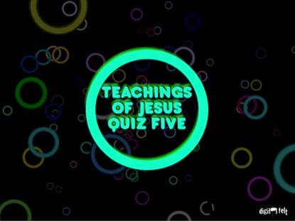 BIBLE QUIZ - JESUS IS GOD
