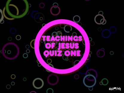 BIBLE QUIZ - SERMON ON THE MOUNT PART 1