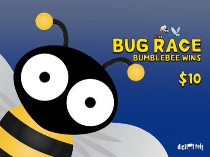 BUG RACE: BUMBLEBEE WINS