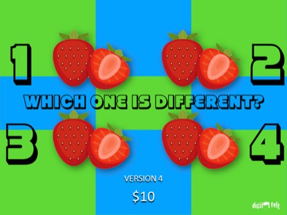 WHICH ONE IS DIFFERENT SUMMER 4