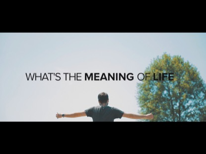 WHAT'S THE MEANING OF LIFE?
